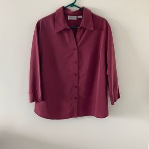 Apparenza red women's button down top